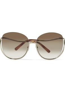 Chloé Milla square-frame gold-tone sunglasses