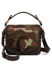 Chloé Mini C Sequin Camo Leather Shoulder Bag