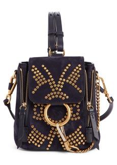 Chloé Mini Faye Studded Leather Backpack