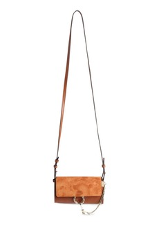 Chloé Mini Faye Suede & Leather Wallet on a Chain