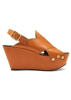 Chloé Mischa platform leather wedges