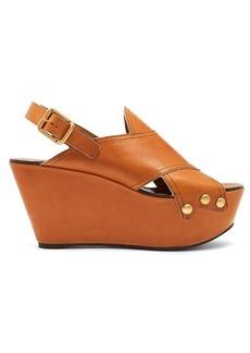 Chloé Mischa platform leather wedges