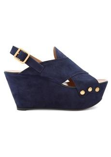 Chloé Mischa suede platform wedge sandals