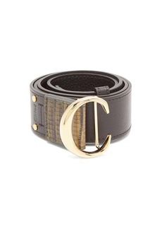 Chloé Monogram-buckle leather belt
