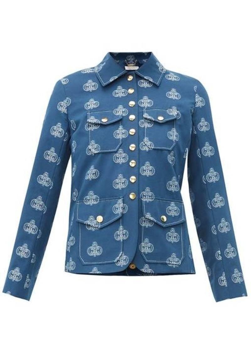 Chloé Monogram-jacquard cotton jacket