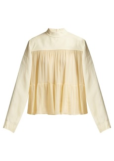 Chloé Mousseline tiered blouse