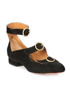 Chloé Multi-Strap Suede Ballet Flats