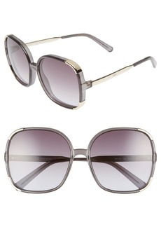 Chloé Myrte 61mm Gradient Lens Square Sunglasses