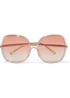 Chloé Nate square-frame acetate sunglasses