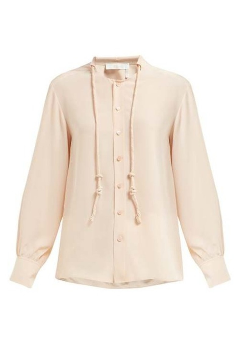 Chloé Neck-cord silk blouse