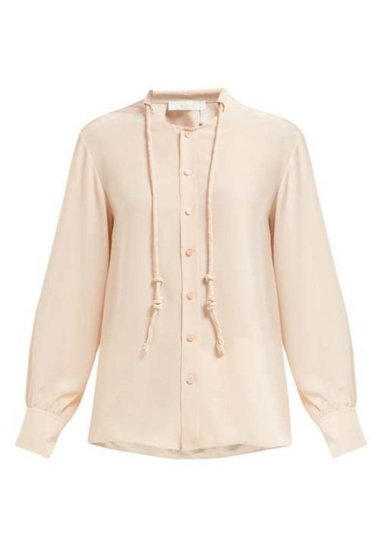 Chloé Neck-cord silk blouse