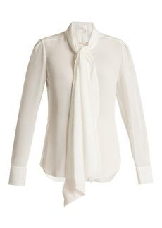 Chloé Neck-tie silk blouse