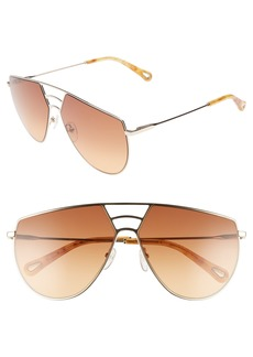 Chloé Negative Space 62mm Oversize Aviator Sunglasses