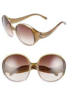 Chloé Nelli 59mm Gradient Lens Round Sunglasses