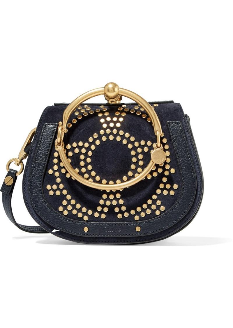 593a6f59c0 Nile Bracelet small embellished textured-leather and suede shoulder bag