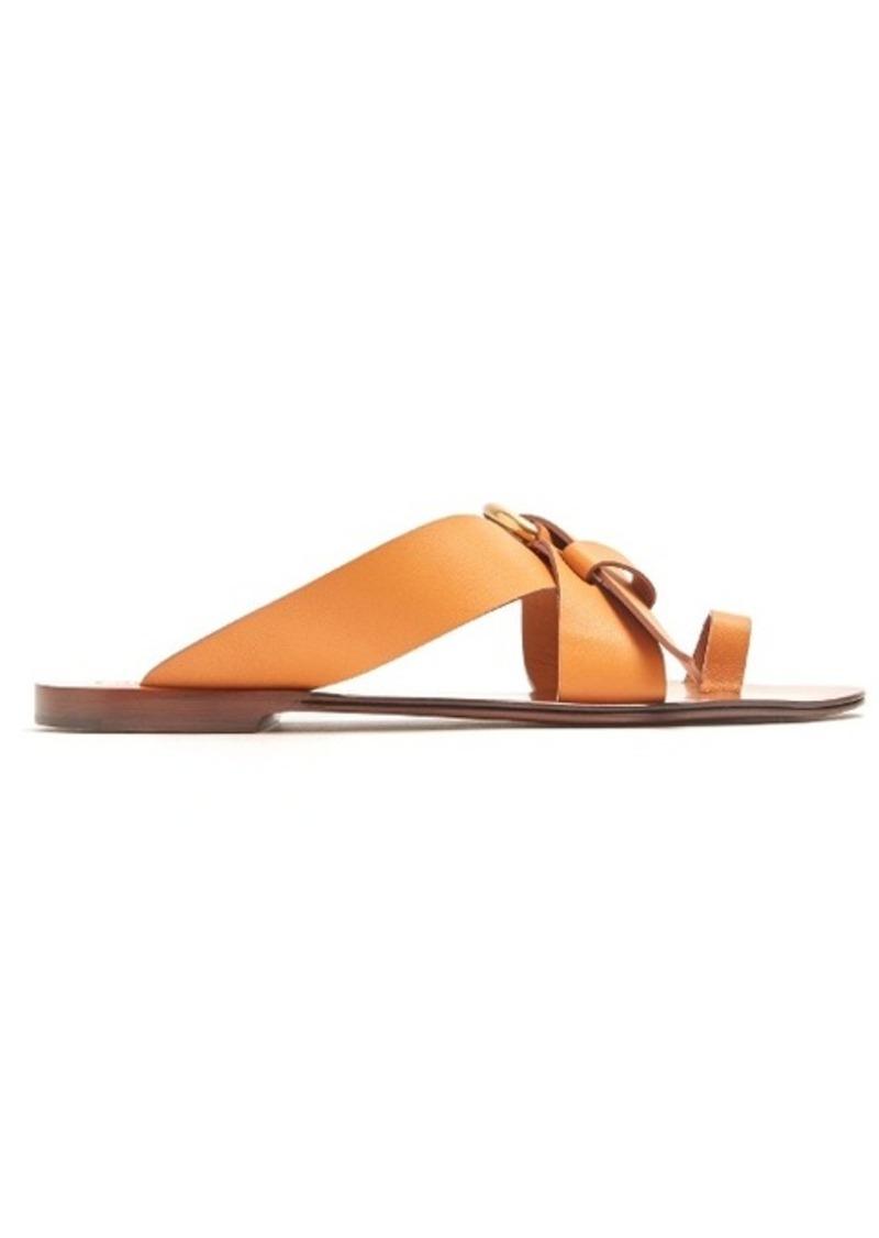 Chloé Nils leather flat sandals
