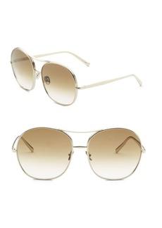 Chloé Nolla 61MM Oversized Square Aviator Sunglasses