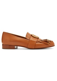 Chloé Olly embellished fringed leather loafers