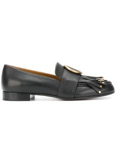 Chloé Olly fringe loafers - Blue