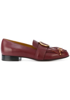 Chloé Olly fringed loafers - Red