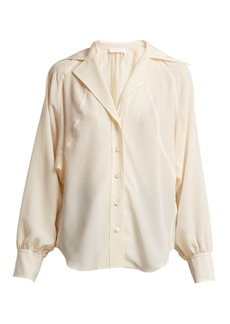 Chloé Open-collar silk crepe de Chine shirt