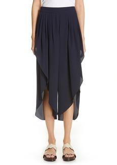 Chloé Open Side Crop Silk Pants
