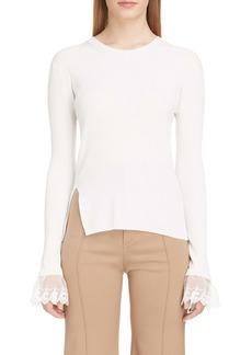 Chloé Organza Cuff Sweater