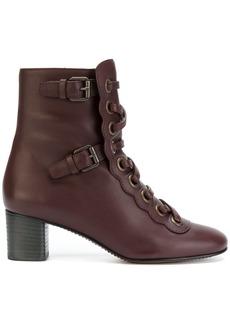 Chloé Orson lace-up boots - Pink & Purple