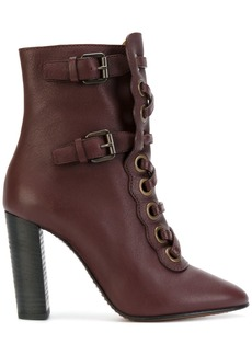 Chloé Orson lace-up boots - Red
