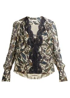 Chloé Paisely-print silk blouse