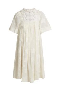Chloé Paisley fil coupé cotton and silk-blend dress