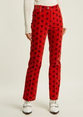 Chloé Paisley-print cotton-blend corduroy trousers