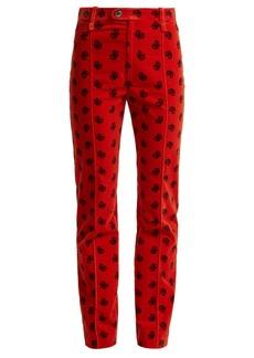 Chloé Paisley-print cotton-blend corduroy trousers
