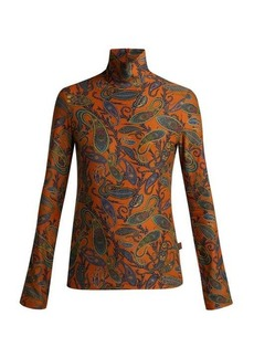 Chloé Paisley-print high-neck top