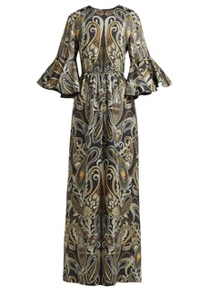 Chloé Paisley-print silk-blend dress