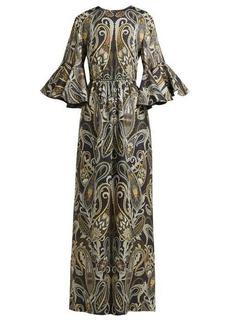 Chloé Paisley-print silk-blend dress