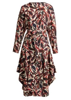 Chloé Paisley-print silk crepe de Chine midi dress