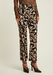 Chloé Paisley-print velvet trousers