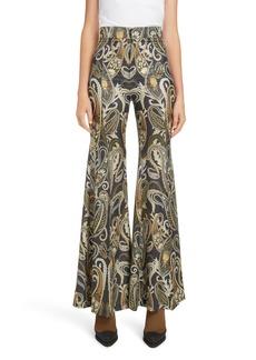Chloé Paisley Silk Blend Flare Pants