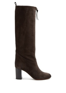 Chloé Paisley suede knee-high boots