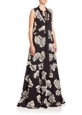 Chloé Palm Leaf Jacquard Gown