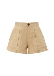 Chloé Patch-pocket cotton-canvas shorts
