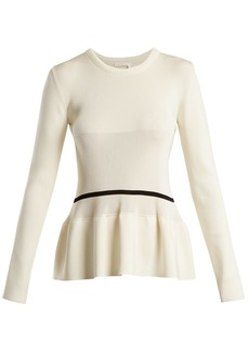 Chloé Peplum-hem striped-detail sweater