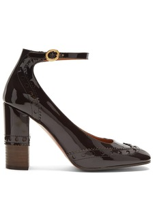Chloé Perry block-heel patent-leather pumps