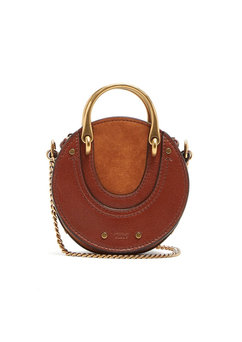 c15633f04c Chloé Chloé Pixie mini leather and suede cross-body bag