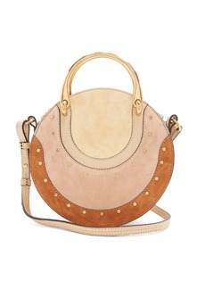 Chloé Pixie small stud-embellished suede cross-body bag