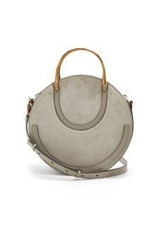 Chloé Pixie suede and leather cross-body bag