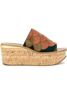 Chloé platform wedge mules - Multicolour