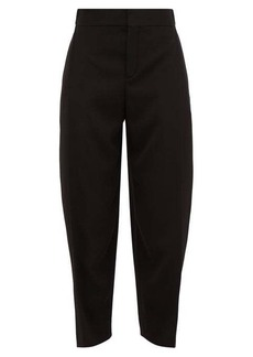 Chloé Pleat-front cropped crepe trousers