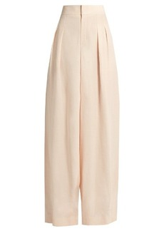 Chloé Pleat-front wide-leg crepe trousers